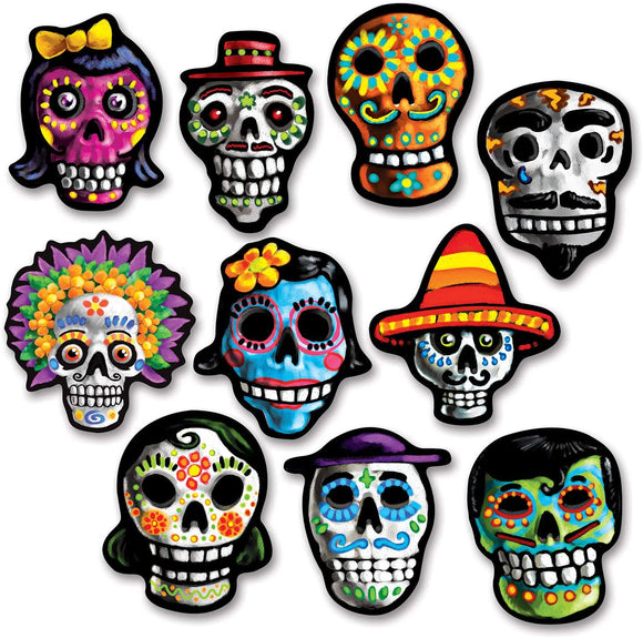 Halloween Day of the Dead Cut Outs - Must Love Party