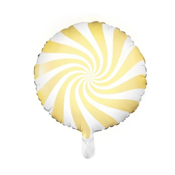Pastel Yellow Candy Foil Balloon - Must Love Party