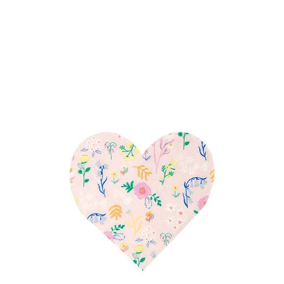 Wildflower Heart Small Napkins - Must Love Party