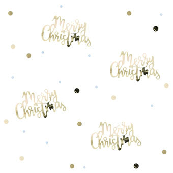 Gold Script Christmas Confetti - Must Love Party