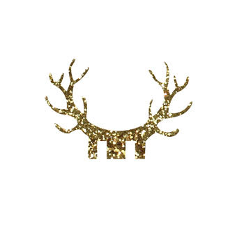 Gold Glitter Antler Glass Decorations - Must Love Party