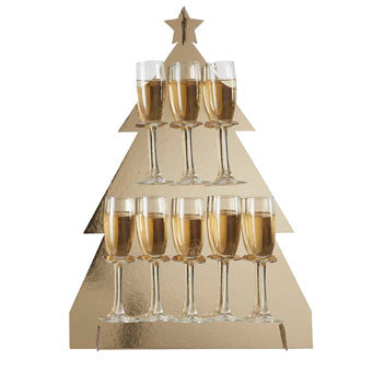 Prosecco Wall - Christmas Tree - Gold - Must Love Party