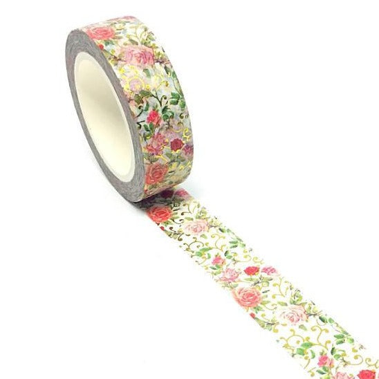 Washi Tape - Golden Rose Garden