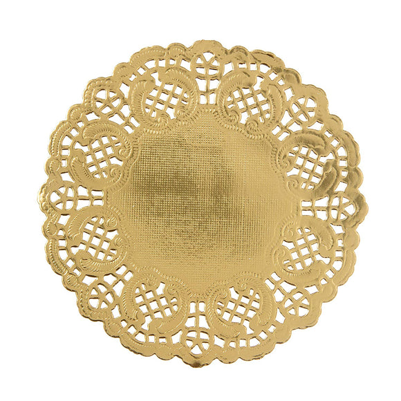 Mini Metallic Gold Lace Doilies - Must Love Party
