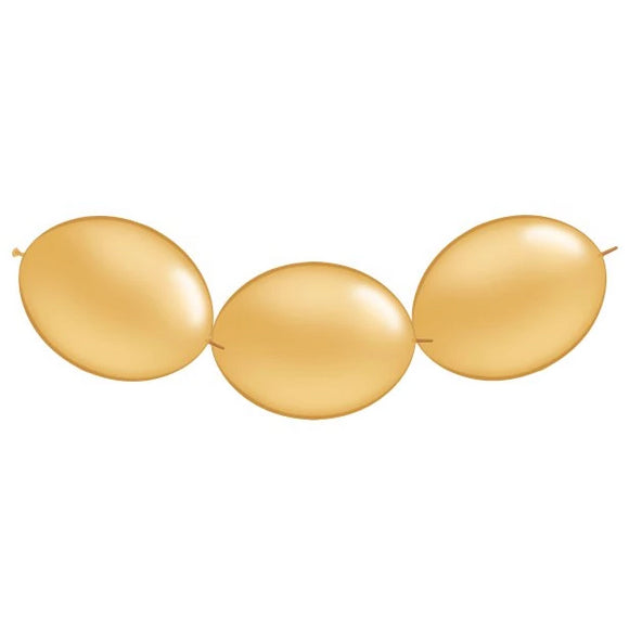 Metallic Gold Link O Loon Balloons - Must Love Party