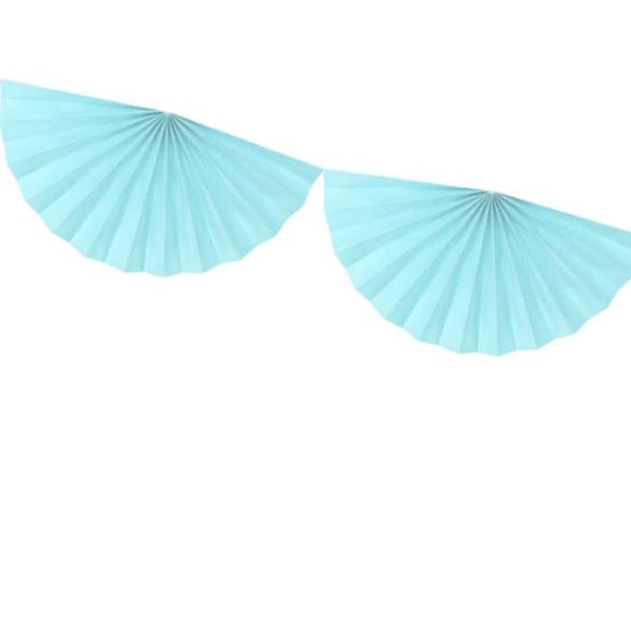Light Blue Tissue Fan Decoration - Must Love Party