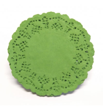 Mini Green Lace Doilies - Must Love Party