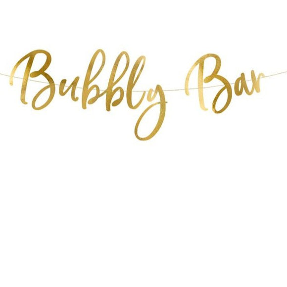Gold Foil Bubbly Bar Bunting - Must Love Party
