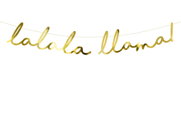 Lalala Llama Gold Foil Bunting - Must Love Party
