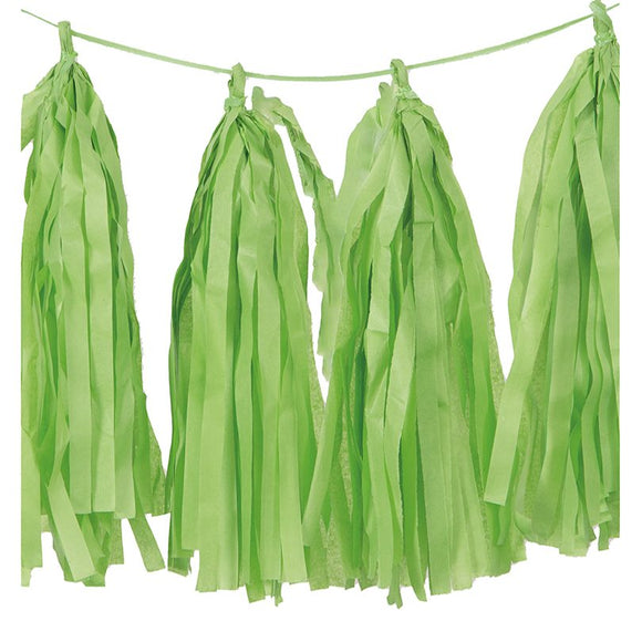 Lime Green Tassels (12pcs) - Must Love Party
