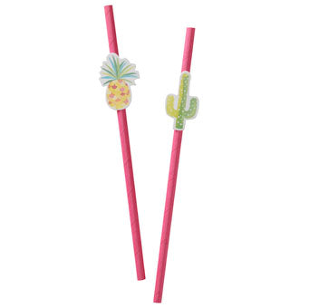Pineapple and Cactus Straws - Must Love Party