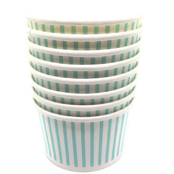 Mint Blue Treat / Ice Cream Cups (12) - Must Love Party