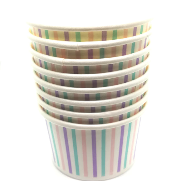 Pastel Striped Treat / Ice Cream Cups - Must Love Party
