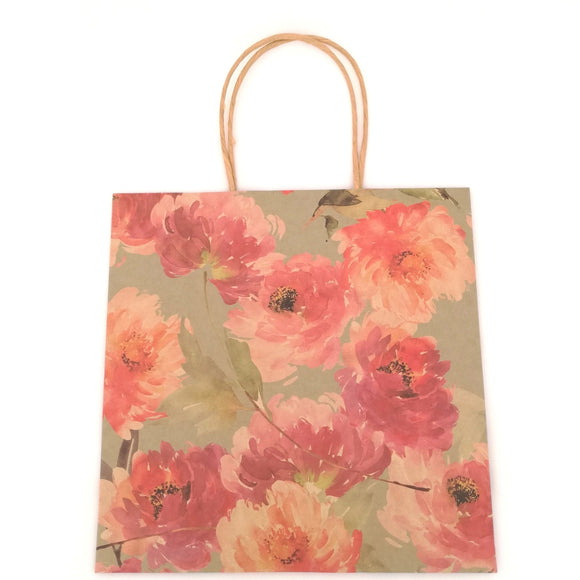 Floral Fancy Kraft Gift Bag - Must Love Party
