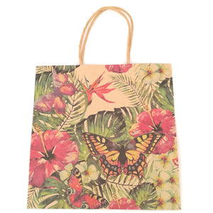 Tropical Garden Kraft Gift Bag - Must Love Party
