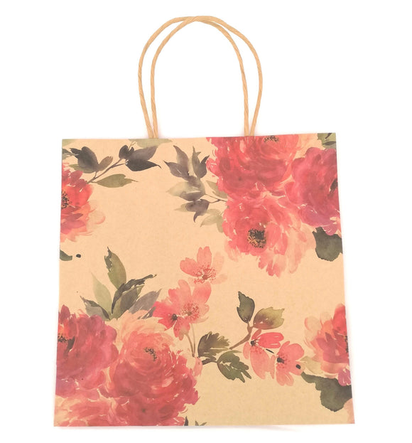Flower Kraft Gift Bag - Must Love Party