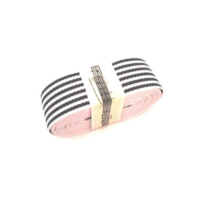 Ribbon - Petersham Striped - Black / White - Must Love Party