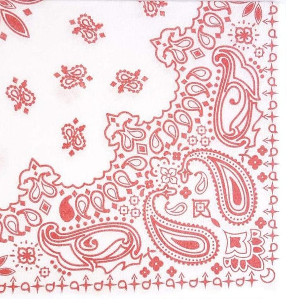 Paisley Red Airlaid Napkins (25)