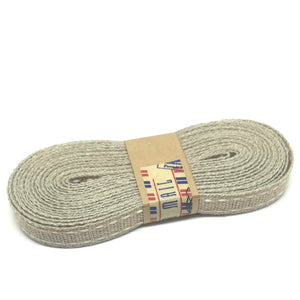 Ribbon - Flax Saddle Stitch - Natural / Light Cream - Must Love Party