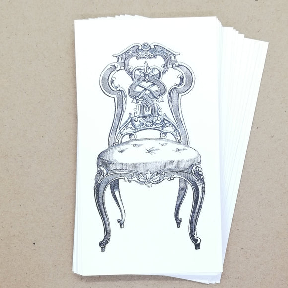 DIY Vintage Chair Gift Tags / Place Cards (25 pk) - Must Love Party