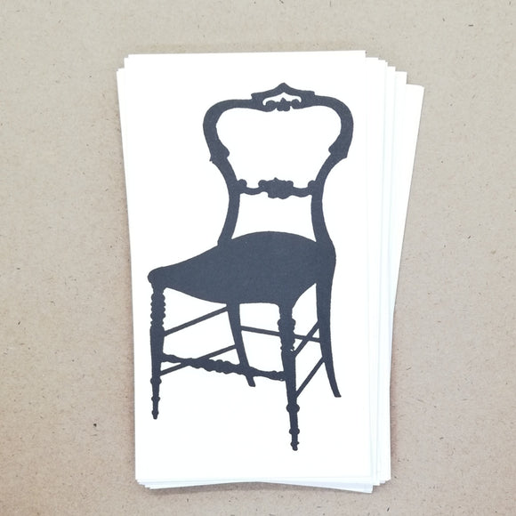 DIY Cute Frenchy Silhouette Chair Gift Tags / Place Cards (25 pk) - Must Love Party