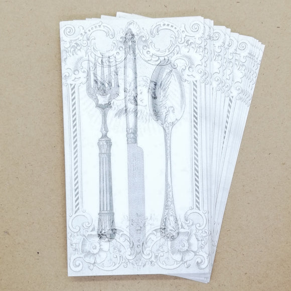 DIY Vintage Cupid Cutlery Gift Tags / Place Cards (25 pk) - Must Love Party