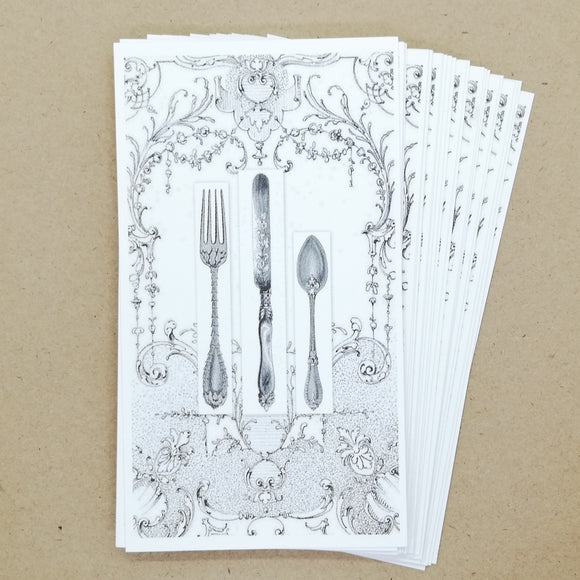 DIY Antique Cutlery Gift Tags / Place Cards (25 pk) - Must Love Party