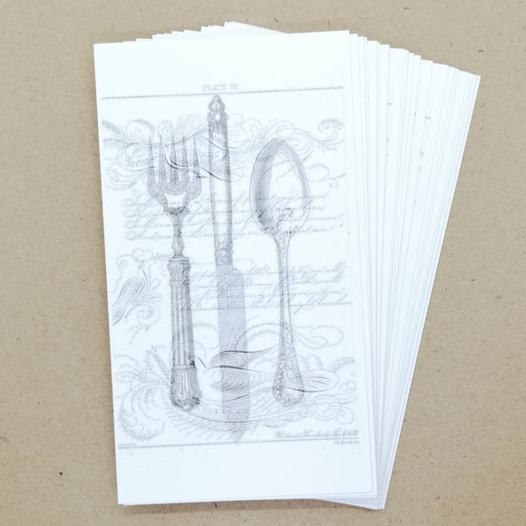 DIY French Cutlery Gift Tags / Place Cards (25 pk) - Must Love Party