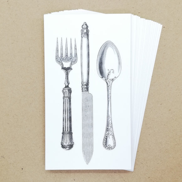 DIY Vintage Cutlery Gift Tags / Place Cards (25 pk) - Must Love Party