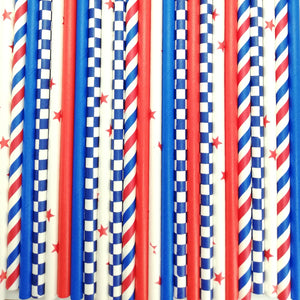 Pop of Colour - Reds & Blues Paper Straws - Must Love Party