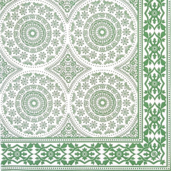 Shweshwe Green Airlaid Napkins (25)