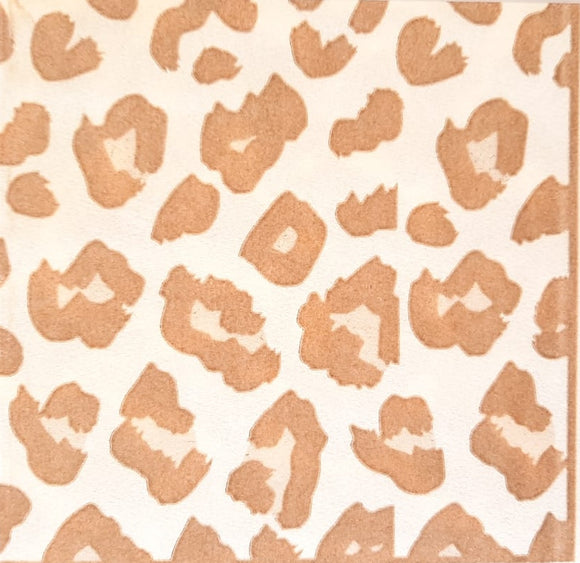 Leopard Caramel on Ivory Biodegradable Napkins