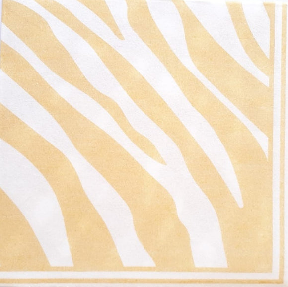 Zebra Maize Yellow Airlaid Napkins (25)