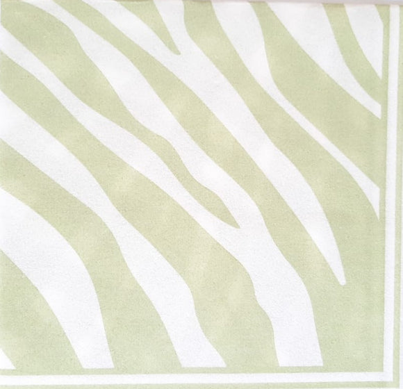 Zebra Pistachio Biodegradable Napkins