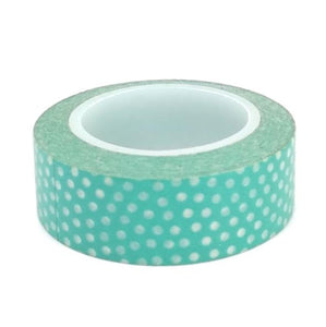 Washi Tape - Teal with Dot