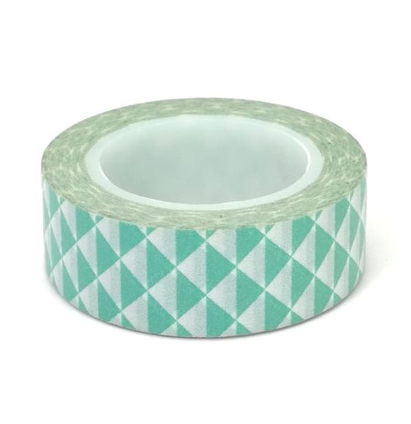 Washi Tape  - Light Blue Triangles - Must Love Party