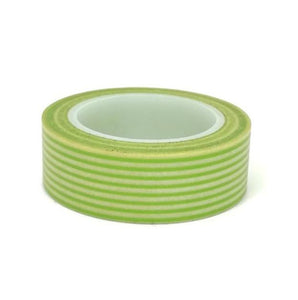 Washi Tape - Lime Green Stripe - Must Love Party