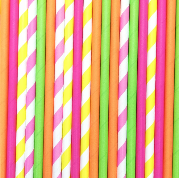 Pop of Colour - Tropical Paper Straws - Must Love Party