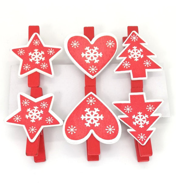 Wooden Christmas Pegs