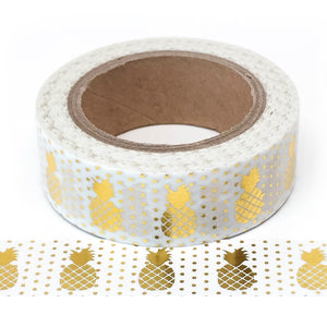 Washi Tape - Gold Pineapples - Must Love Party
