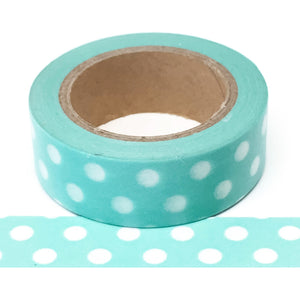 Washi Tape -Blue with white Polkadot - Must Love Party