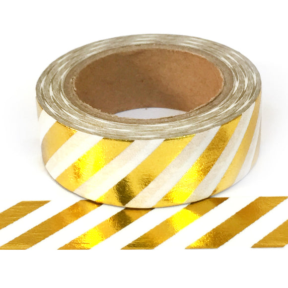Washi Tape - Gold Diagonal Stripe - Must Love Party