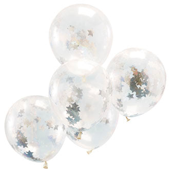 Holographic Star Confetti Balloons - Must Love Party