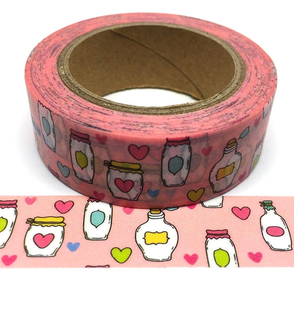 Washi Tape - Jam Jars & Hearts - Must Love Party