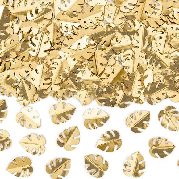 Metallic Gold Monstera Confetti - Must Love Party