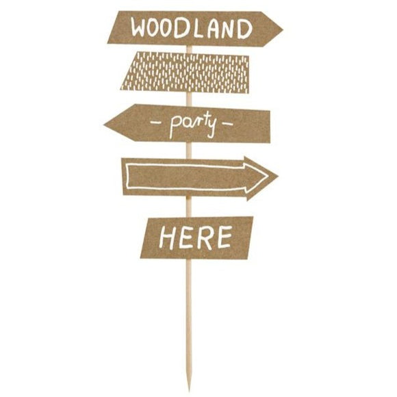 Woodland Signpost Cake Topper - Must Love Party