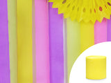 Bright Yellow Crepe Streamer (4 pc) - Must Love Party