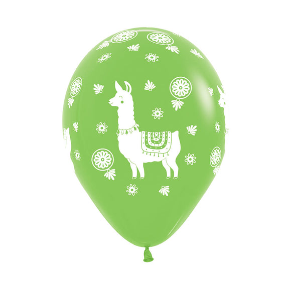 Lime Green Llama Balloons (3) - Must Love Party