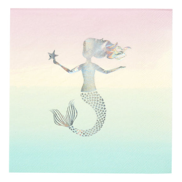 We Heart Mermaid Napkins - Must Love Party