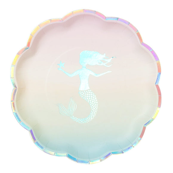 Iridescent Mermaid Plates - Must Love Party
